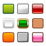 方形的按钮支持 图库摄影