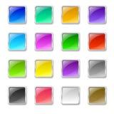 方形的按钮 免版税库存图片