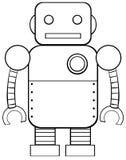 方形的机器人 库存图片