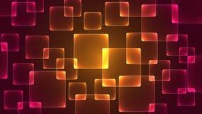 方形的样式有从后面的光作为背景 库存例证
