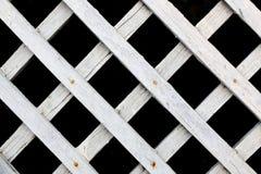 白色木篱芭 库存照片