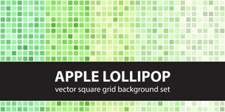 方形的样式集合苹果计算机棒棒糖 传染媒介无缝的几何bac 库存图片