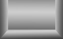 方形的框架灰色梯度墙壁抽象背景  库存照片
