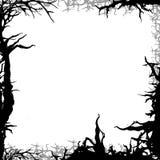 方形的森林背景框架例证 免版税库存照片