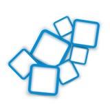 方形的横幅04 免版税库存照片