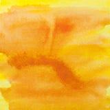 方形的橙黄色水彩横幅背景 水彩pa 免版税库存图片