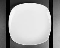 方形的浅碗 库存图片
