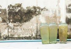 方形的玻璃瓶子 图库摄影