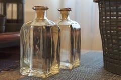 方形的瓶chacha 免版税库存图片