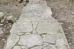 方形的石台阶 库存图片