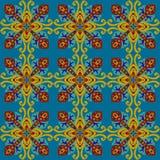 方形的种族无缝的传染媒介样式 免版税库存照片