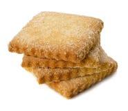 方形的糖屑曲奇饼的幻灯片 免版税图库摄影