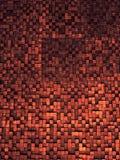 方形的纹理或横穿的片段排行马赛克表面黄色红色桃红色橙色灰色褐红的金黑暗色的墙纸, abstra 免版税图库摄影