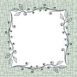方形的花卉框架背景 免版税图库摄影