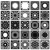 方形的装饰品集合 库存照片