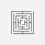 方形的迷宫传染媒介象 皇族释放例证