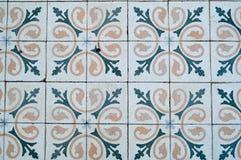 方形的陶瓷砖纹理有样式的从传统阿拉伯装饰品和花黄色和蓝色 抽象背景异教徒青绿 库存图片