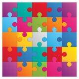 方形的难题- 25部分 库存照片