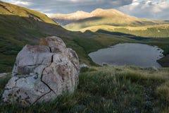 方形的顶面湖-科罗拉多 免版税库存图片