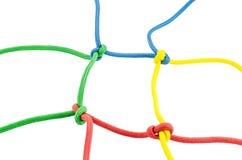 方形的绳索框架 免版税库存图片