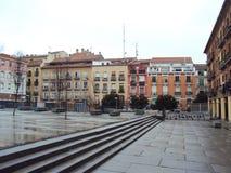 方形的`纳尔逊・曼德拉`马德里,西班牙 库存图片