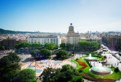 方形的Catalunia,西班牙 免版税库存图片