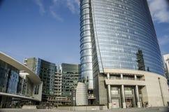 方形的Gael Aulenti,米兰,意大利 免版税库存照片