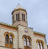 从方形的Piata Sfatului的教会 brasov中心城市老罗马尼亚 免版税库存照片