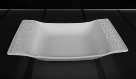 方形的porcelaine浅碗 免版税图库摄影