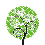 方形结构树 库存图片