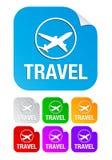 方形贴纸旅行 免版税库存图片