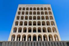 方形Colosseum在罗马在日之前 免版税库存照片