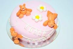 方旦糖蛋糕为孩子生日 免版税库存图片