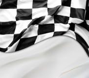 方格标志赛跑 免版税库存图片