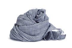 方格的围巾 免版税图库摄影