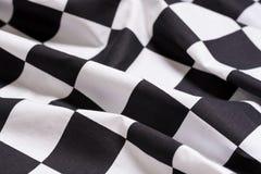 方格的旗子背景-马达赛跑-赢取的标志 库存照片