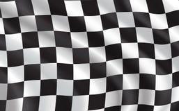 方格的旗子,小汽车赛体育 皇族释放例证