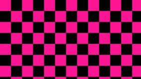 方格的桃红色&浅粉红色的黑角规和深刻的黑无缝的样式 向量例证