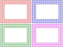 方格的框架模式集 库存照片