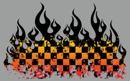 方格的火焰 向量例证
