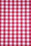 方格的红色桌布 库存照片