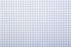 方格的纸,背景 免版税库存照片