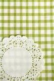 方格的绿色洗碗布 库存图片