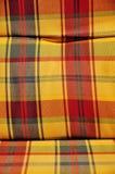 方格的被缓冲的纺织品 库存图片