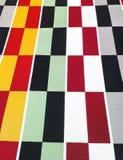 方格的颜色地毯 库存照片