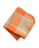 方格的餐巾白色 免版税库存图片