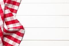 方格的餐巾 免版税库存照片