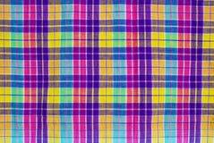 方格的织品桌布 免版税库存照片