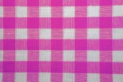 方格的织品纹理作为背景 免版税图库摄影