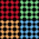 方格的织品背景 无缝色的模式 皇族释放例证